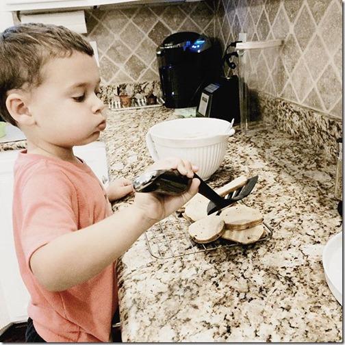 four year old kitchen helper