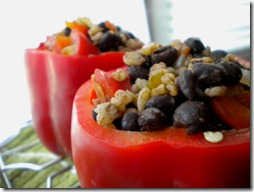 stuffed red peppers