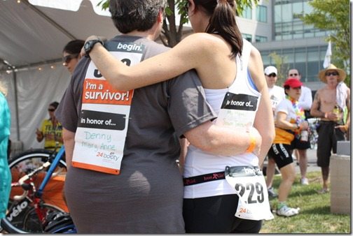 mom and daughter race