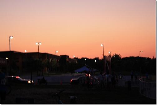 bike ride sunset