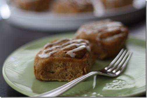 fresh homemade bun breakfast