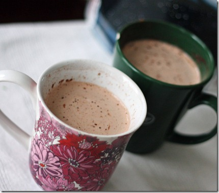 mugs of hot chocolate