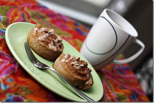 pumpkin pomegranante cinnamon rolls