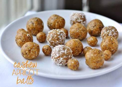 cashew apricot balls