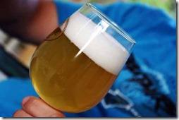 foamy glass of beer