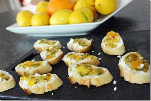 grilled goat cheese crostini