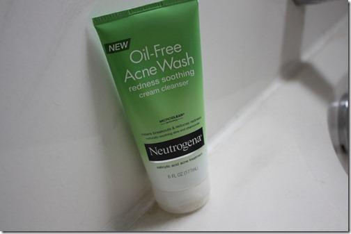 neutrogena oil free acne wash redness soothing