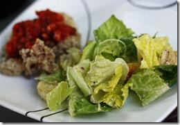 caesar salad and calamari