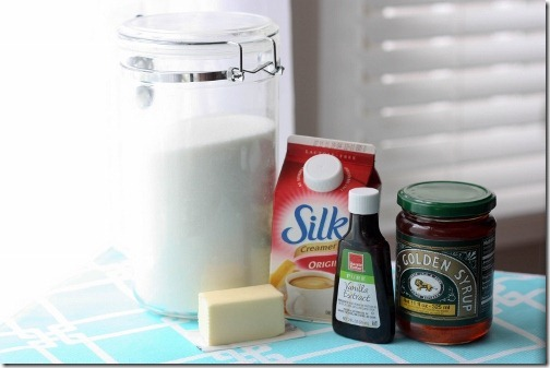 ingredients for vegan caramel - dairy free