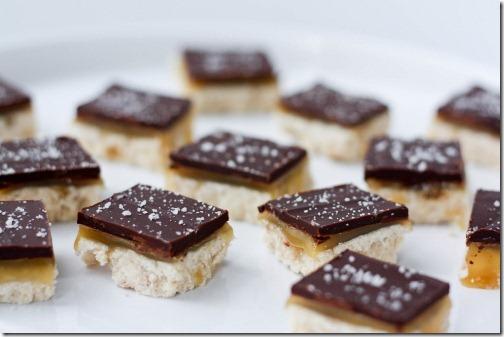 vegan salted caramel squares
