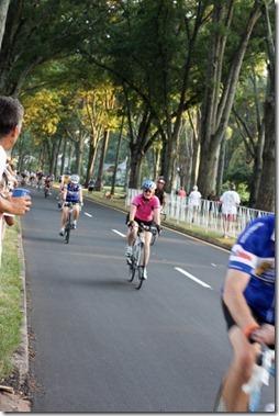 mom riding bike
