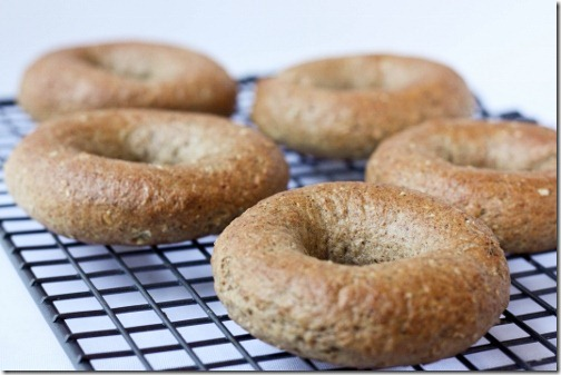 baked whole wheat bagels