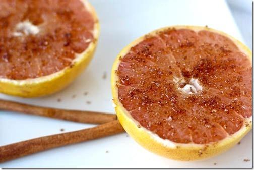 broiled grapefruit with cinnamon sugar