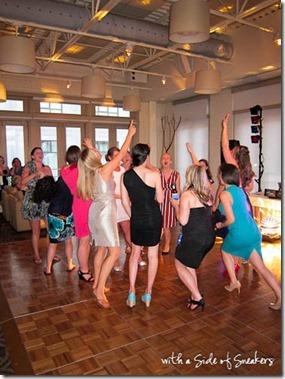 sorority girls at wedding