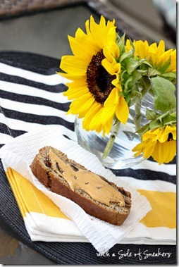 banana bread with chocolate chips and peanut butter