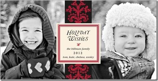 damask christmas card