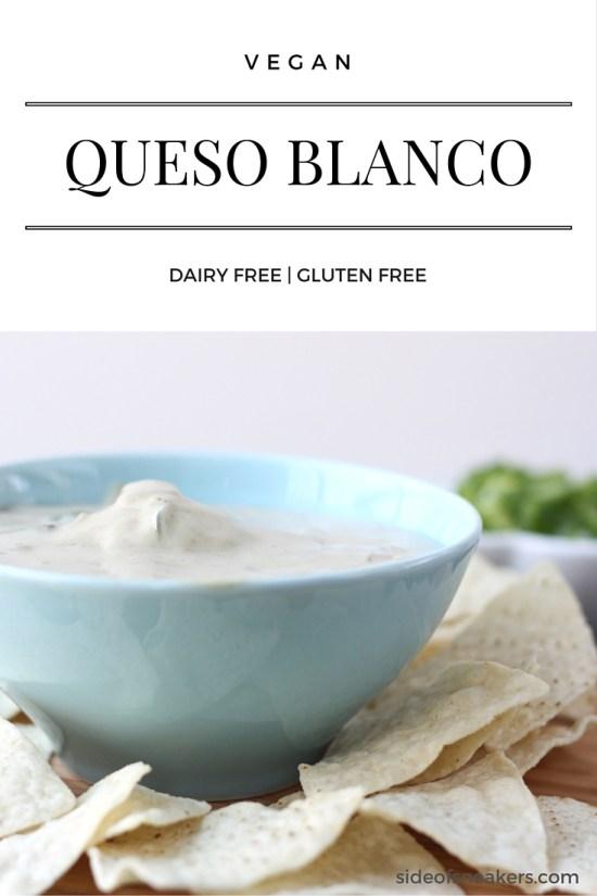 Vegan queso blanco dip recipe - dairy free, gluten free.