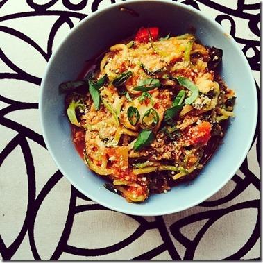 sweet potato noodle bowl