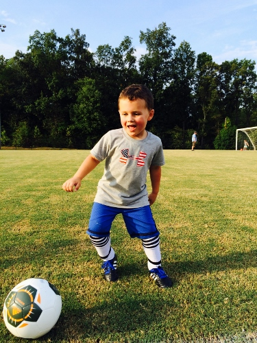 three year old first soccer game