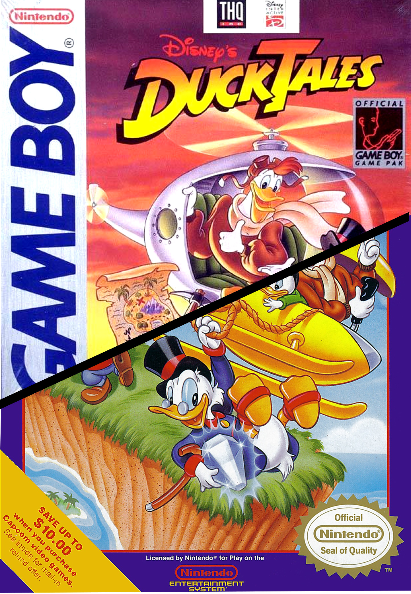 SplitscreeN One Game Two Versions DuckTales GB Vs