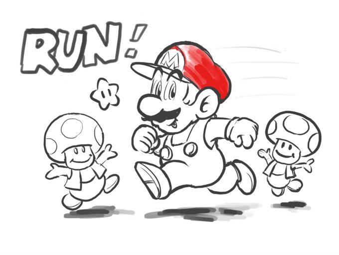 Watch Nintendo's Shigeru Miyamoto draw Super Mario Run