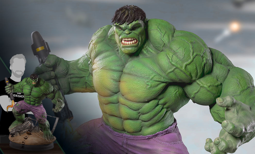 marvel hulk statue by