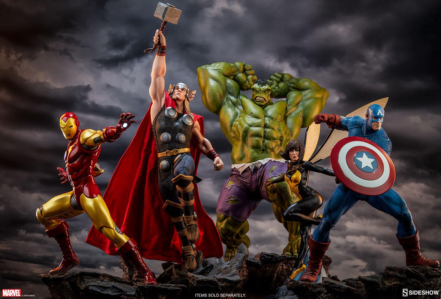 marvel hulk statue by
