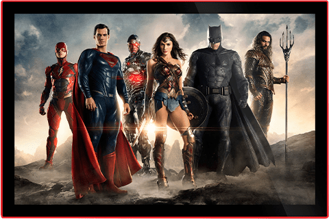 justice league of america movie poster led poster sign