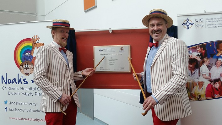 The Deckchair Dandies at the opening of new Childrens Hospital Wales