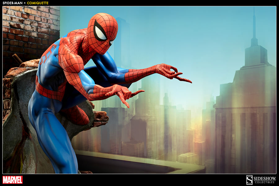 Marvel SpiderMan Polystone Statue by Sideshow