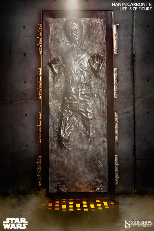 Own The Ultimate Star Wars Life Size Han Solo In Carbonite