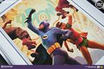 Batman Robin The Dynamic Duo Premium Art Print