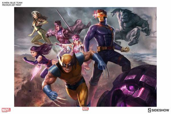 Marvel X-men Blue Team Premium Art Print Sideshow Collect Collectibles
