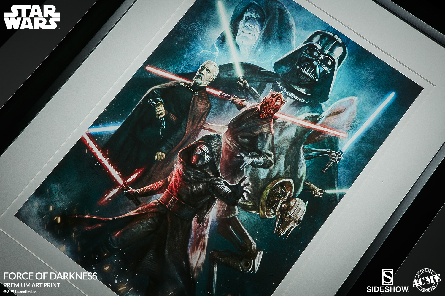 Star Wars Force of Darkness Art Print by ACME Archives