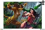 Wonder Woman vs Cheetah Premium Art Print