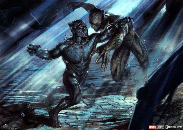 Marvel Black Panther Erik Killmonger Art Print Sidesho Sideshow Collectibles