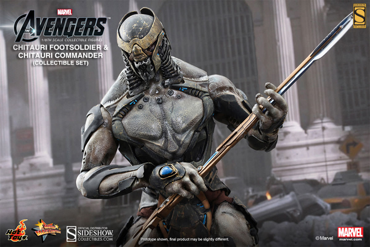Chitauri Commander And Footsoldier Sideshow Collectibles