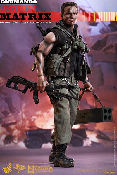 Commando John Matrix Sixth Scale Figure By Hot Toys