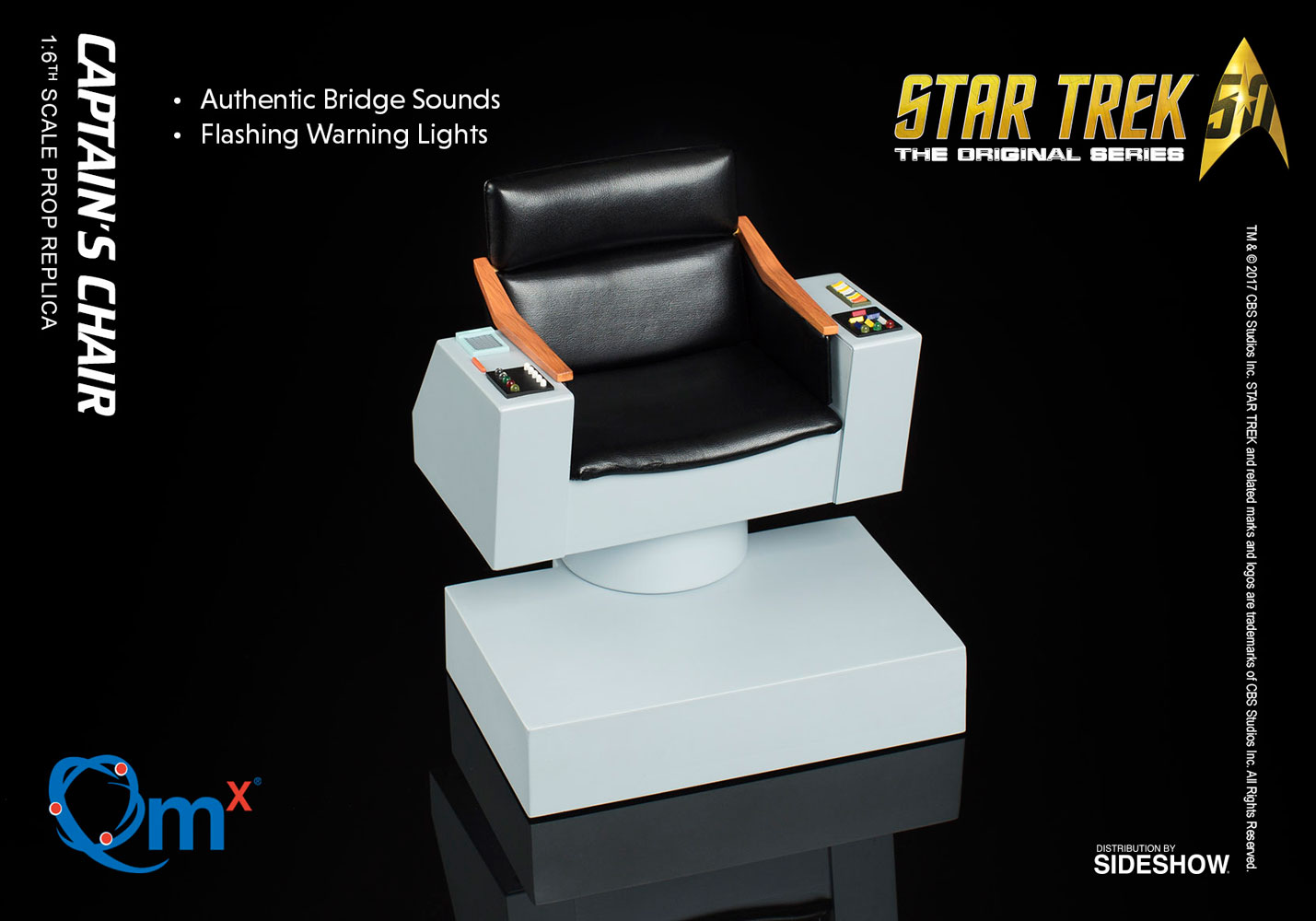 Star Trek Captains Chair Sixth Scale Figure Accessory by