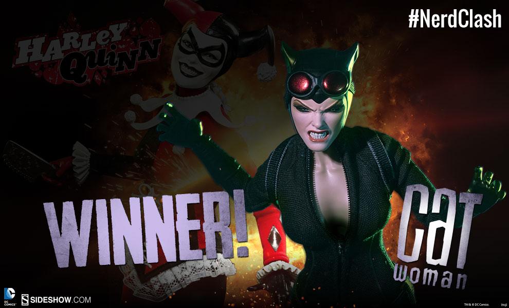 NERD CLASH Valentines Day Edition Catwoman VS Harley