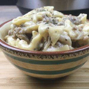 slow cooker ground beef stroganoff