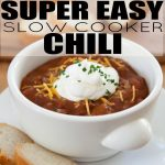 This amazing slow cooker chili is perfect for cool, fall and winter nights.