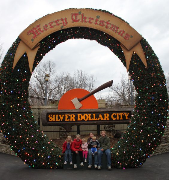 Enjoying Christmas at Silver Dollar City