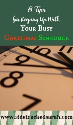 Keeping Up with Your Busy Christmas Schedule