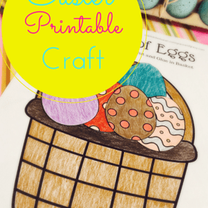 Printable Easter Craft - Eggs in a Basket