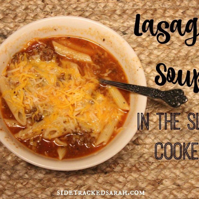 Crockpot Lasagna Soup Recipe with Low Carb Option