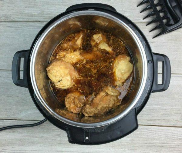 Instant Pot Honey Garlic Chicken Sliders