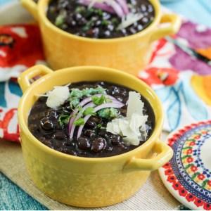 Cuban Black Bean Soup in Bowl