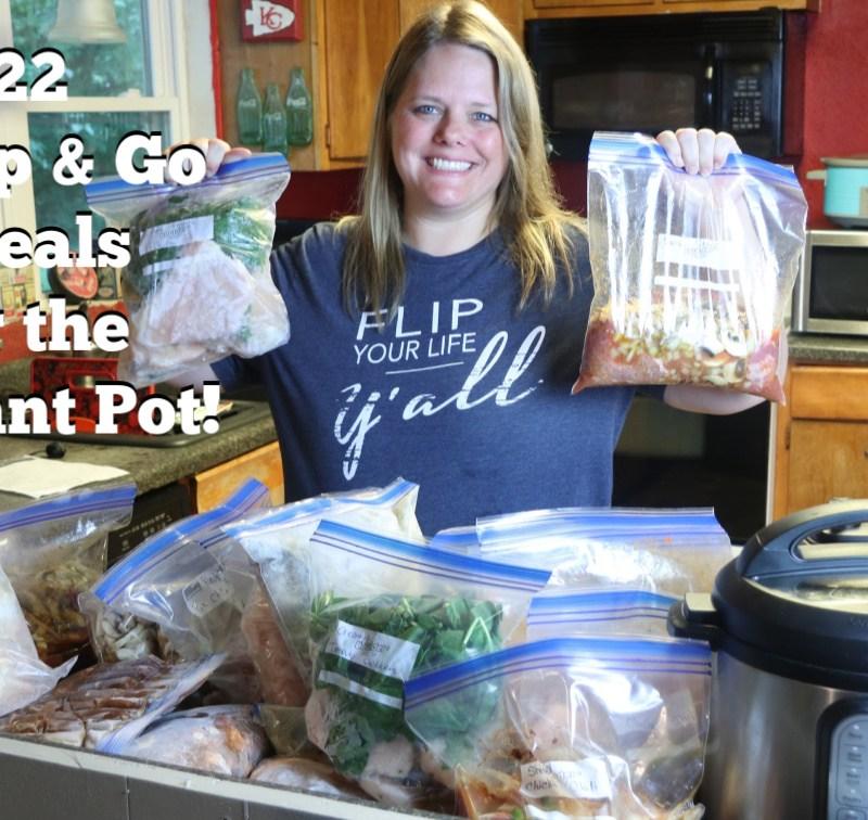 22 Dump & Go Instant Pot Freezer Meals for Back to School