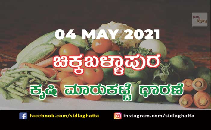 Chikkaballapur Agriculture Market APMC Daily Rates 05 may